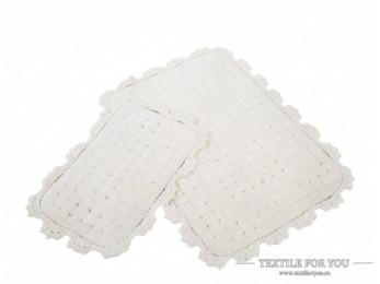 Набор ковриков для ванной IRYA MINA (60x90 см; 40x60 см) Молочный