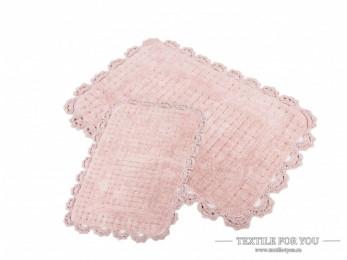 Набор ковриков для ванной IRYA MINA (60x90 см; 40x60 см) Розовый