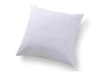 Наволочка Valtery Софткоттон с гипюром NMG-01 (70x70 см - 2 шт.) - Белый