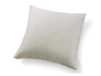 Наволочка Valtery Софткоттон с гипюром NMG-03 (70x70 см - 2 шт.) - Кремовый