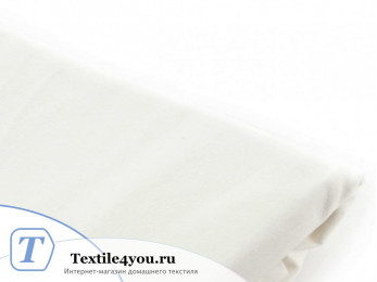 Простынь на резинке Valtery Джерси (90x200 см) - Белый