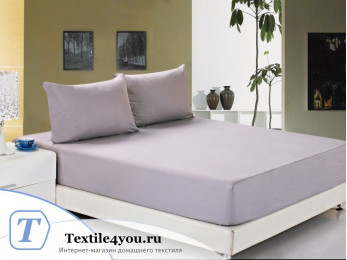 Простынь на резинке Valtery Джерси (90x200 см) - Фиолетовый