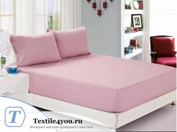 Простынь на резинке Valtery Джерси (180x200 см) - Розовый