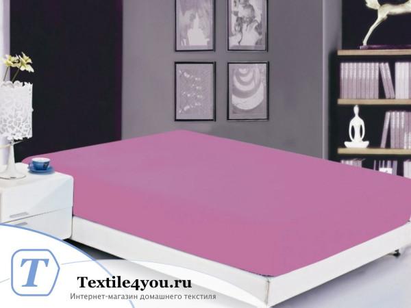 Простынь на резинке Valtery Софткоттон PRMF-10 (160x200 см) - Светло-фиолетовый