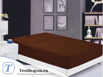 Простынь на резинке Valtery Софткоттон PRMF-05 (90x200 см) - Шоколадный