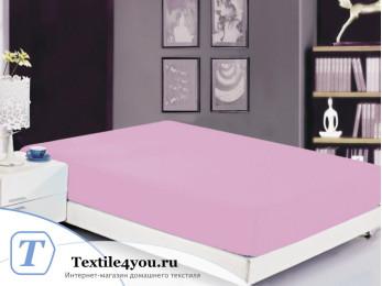 Простынь на резинке Valtery Сатин PRC-R-25 (200x220 см) - Розовый