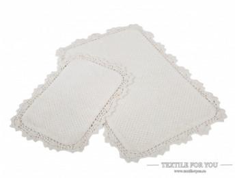 Набор ковриков для ванной IRYA SERRA (60x90 см; 40x60 см) Молочный