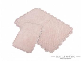 Набор ковриков для ванной IRYA SERRA (60x90 см; 40x60 см) Розовый
