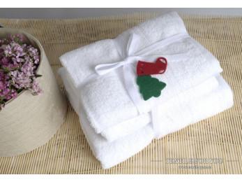 Полотенце махровое IRYA SHALLA - 50x90 см (1 шт.) - Белый